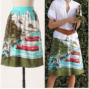 Anthropologie midi skirt